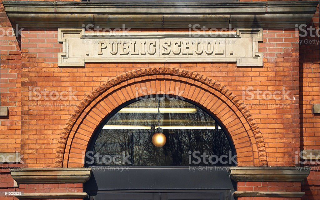 Public School Building stock photo