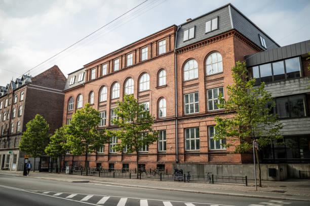 Public school, Frederiksberg, Denmark stock photo