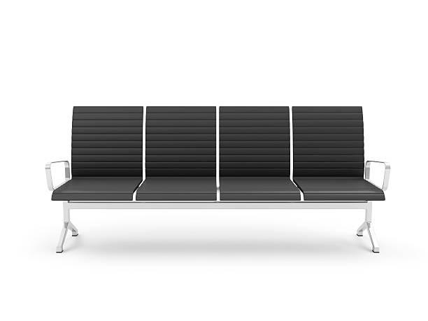 público assentos isolado no fundo branco - banco assento - fotografias e filmes do acervo