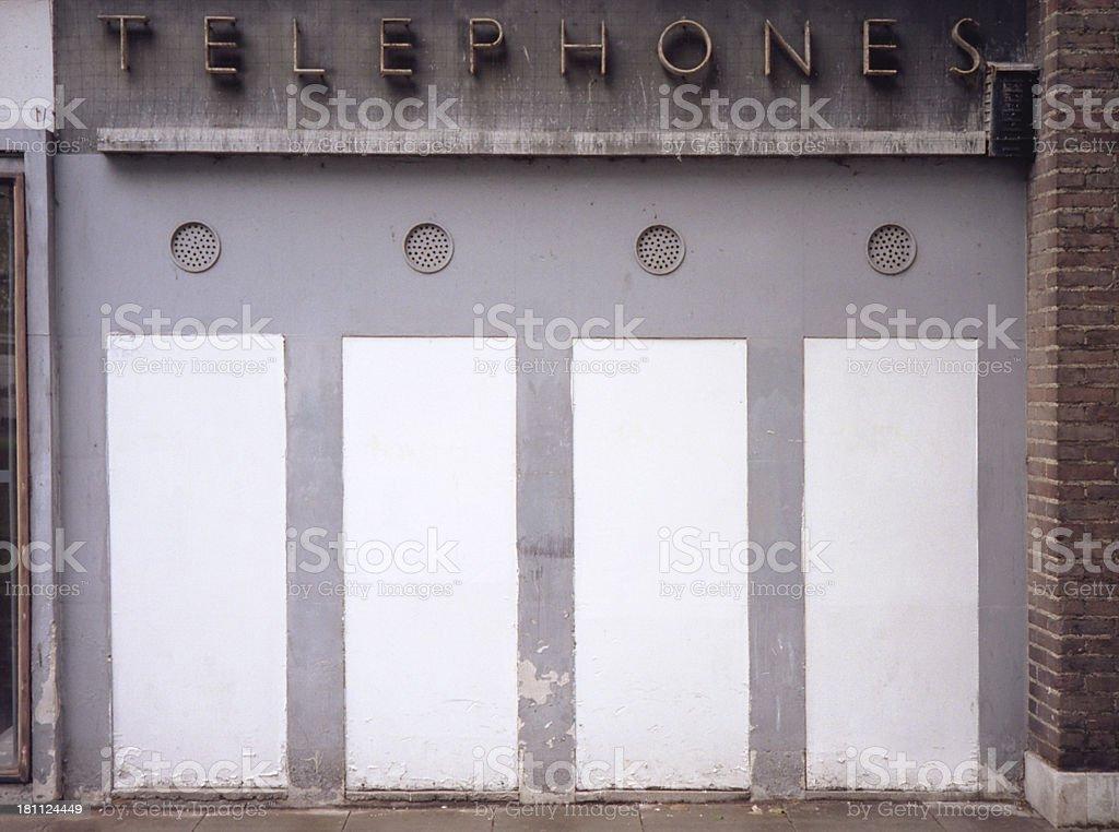Public Service Telephones stock photo
