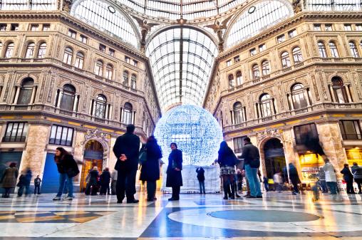 public shopping gallery Galleria Umberto I in Naples, Italy