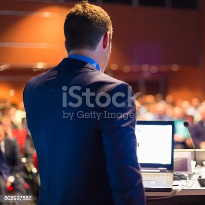 595328682 istock photo Public speaker at Business Conference. 508967582