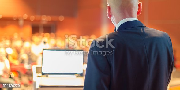 istock Public speaker at Business Conference. 524426279