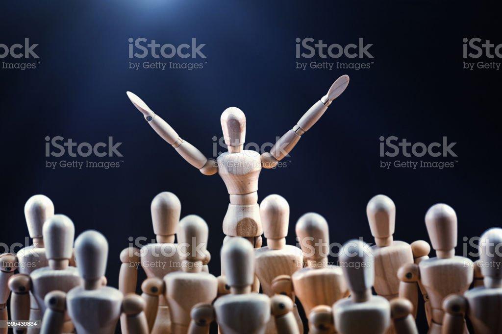 공공 스피커는 군중을 고무 - 로열티 프리 0명 스톡 사진