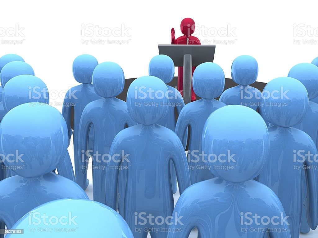 Public speaker royalty-free stock photo