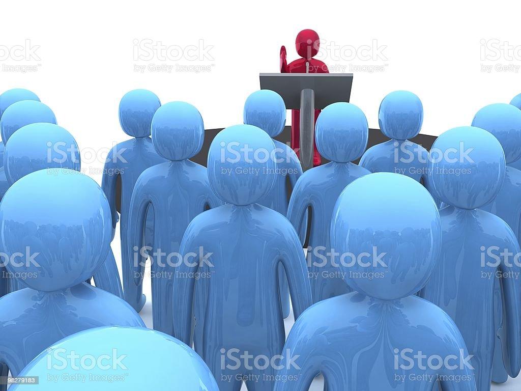 Oratore pubblico foto stock royalty-free