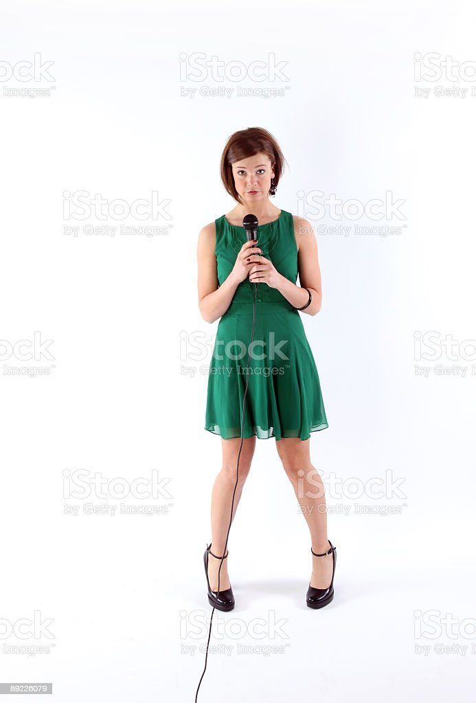 Public speaking royalty-free stock photo