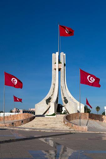 Public square of Tunis