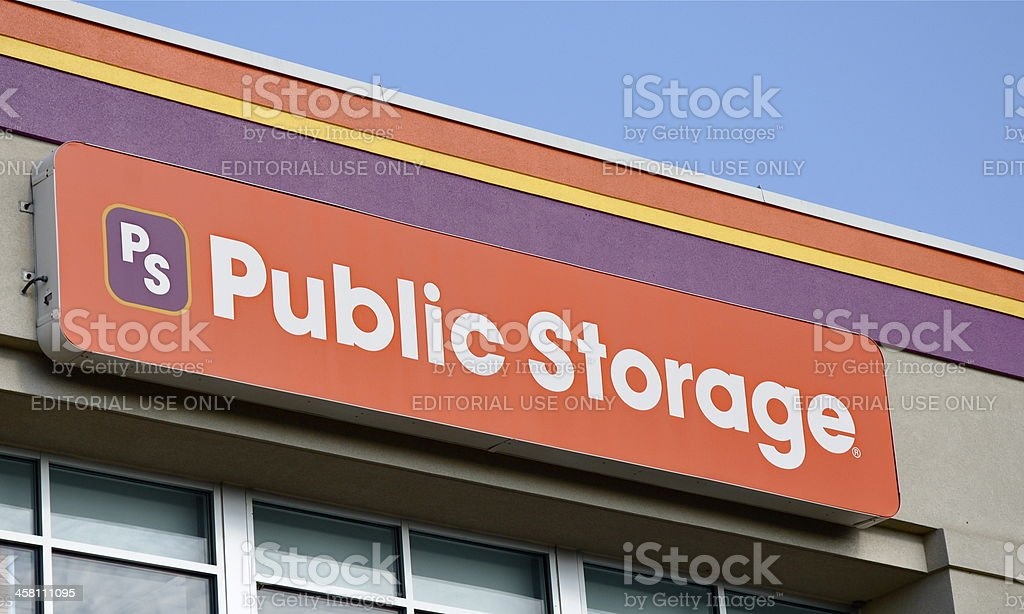 Public Storage Sign royalty-free stock photo
