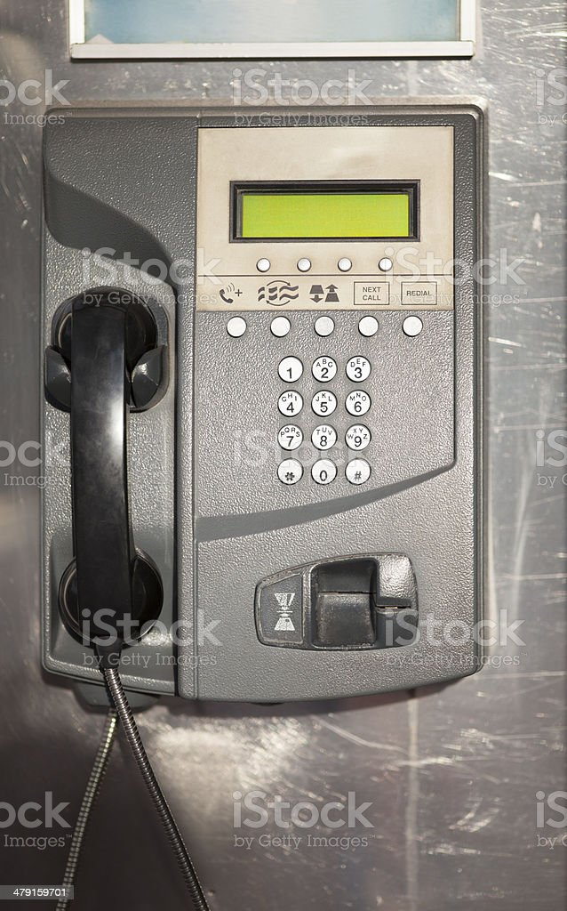 Public street pay phone royalty-free stock photo