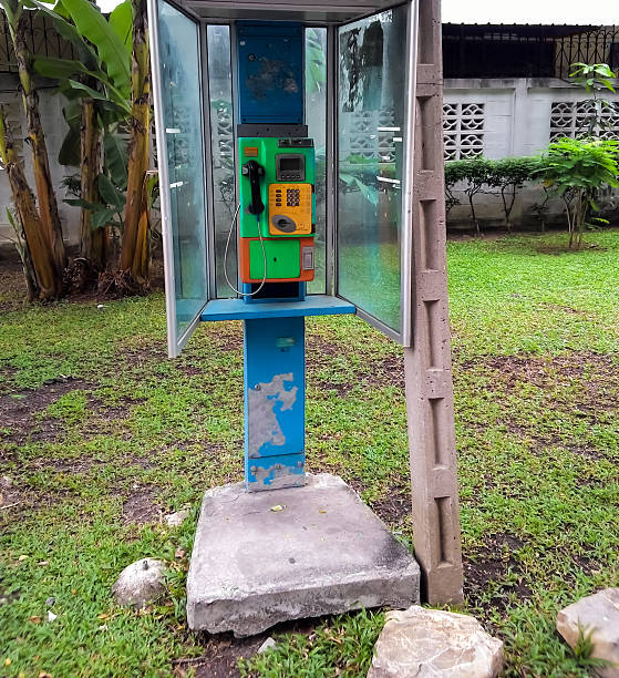 public telephone at solitary place