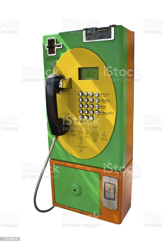 public telephone isolated stock photo