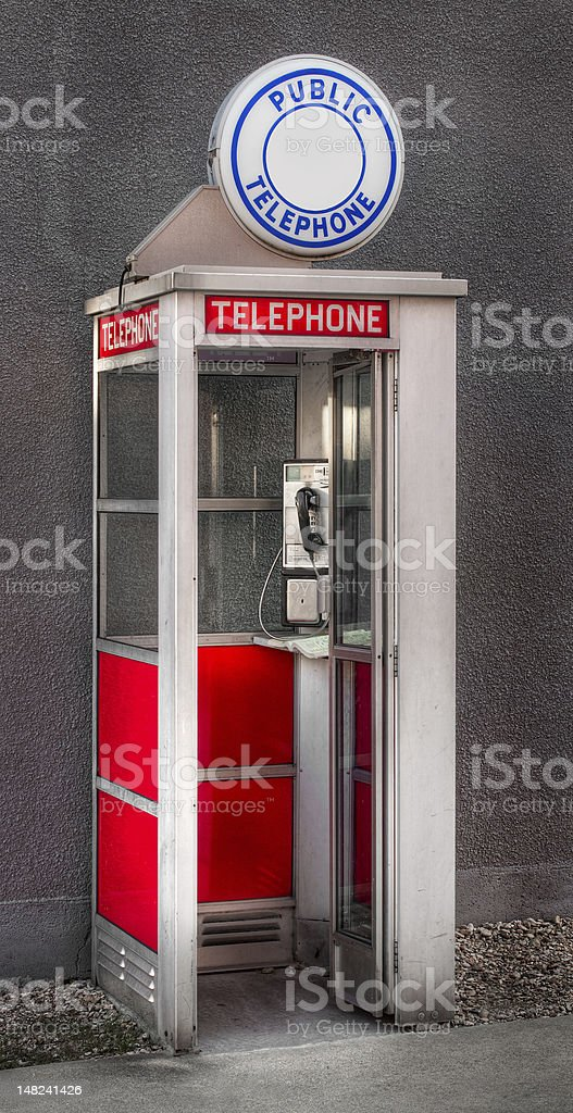 Public Telephone stock photo