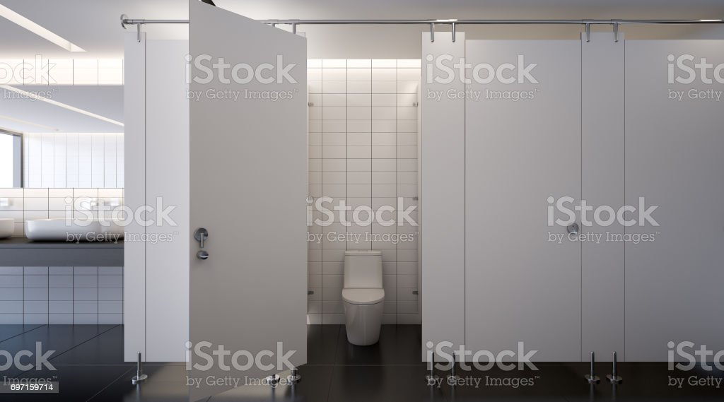 Public toilet , 3d rendering stock photo