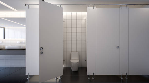 Public toilet , 3d rendering stock photo