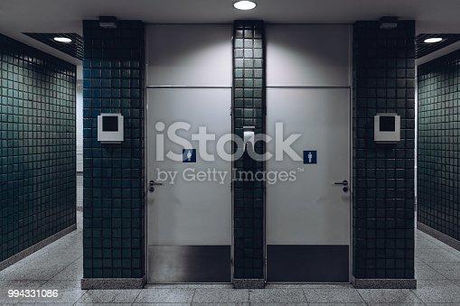 480193462 istock photo Public toilet entrances in airport terminal 994331086