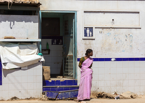Public Toilet For Men In Bangalore Stock Photo - Download Image Now