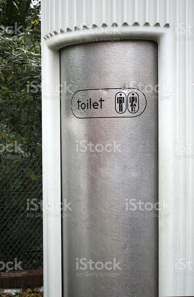 Public Toilet in London royalty-free stock photo
