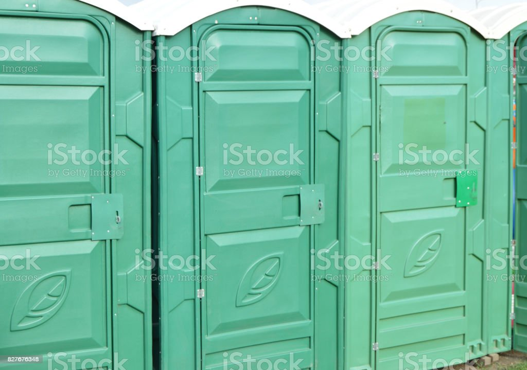 Public toilets are in the Park for cleanliness and hygiene stock photo
