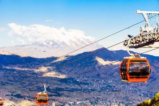 istock public transport by cable car Mi Teleferico in La Paz - Bolivia 955780320
