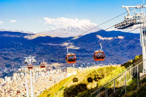 istock public transport by cable car Mi Teleferico in La Paz - Bolivia 955784274