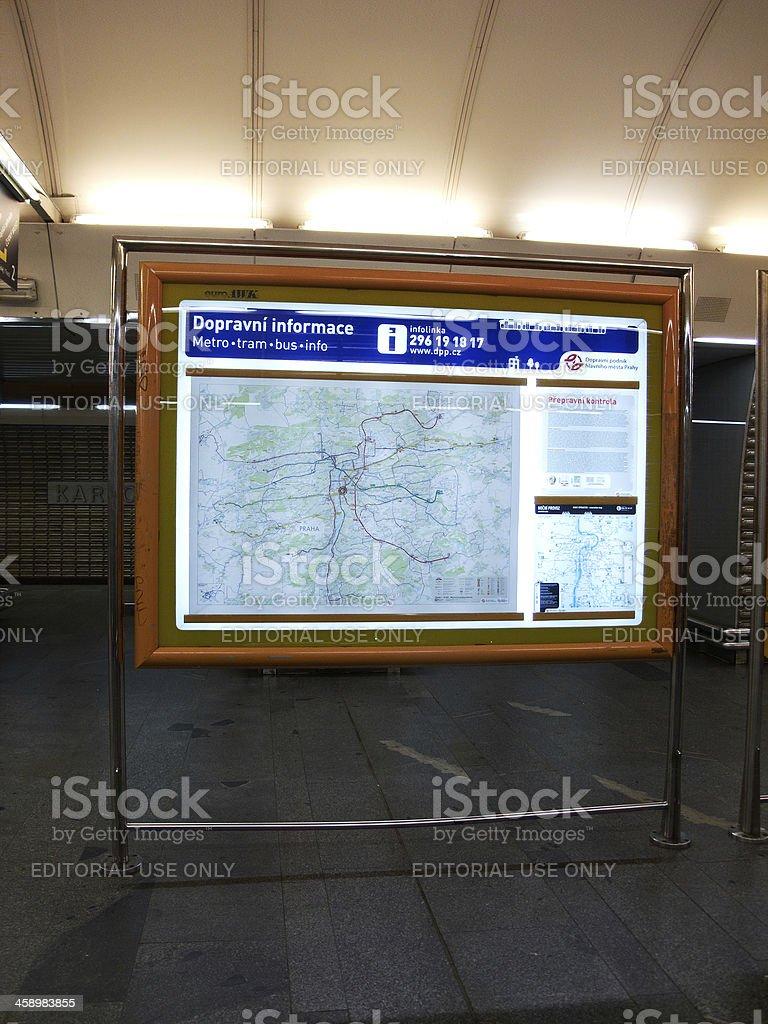 Prague Subway Mapinfo.Public Transport Map In Prague Subway Stock Photo Download Image