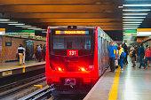 istock Public transport Subway train in Santiago, Chile 1278462418