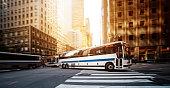 Public transportation bus in New York in Manhattan, New York