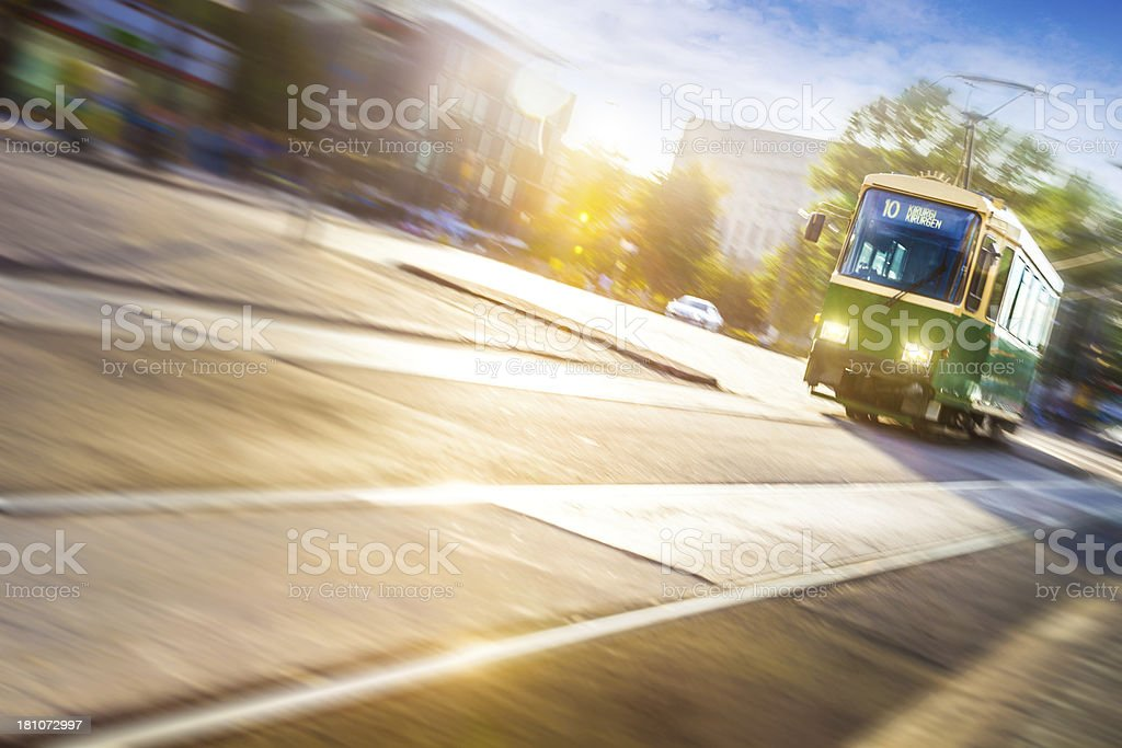 Public Transportation in Helsinki royalty-free stock photo