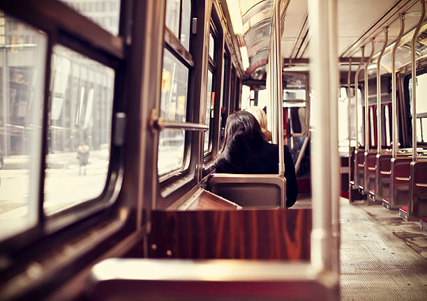 public transportation in toronto - toronto streetcar stock photos and pictures