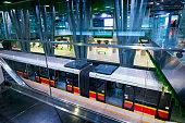 Public transportation in Warsaw - modern subway station