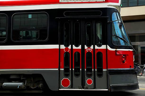 public transportation - toronto streetcar stock photos and pictures