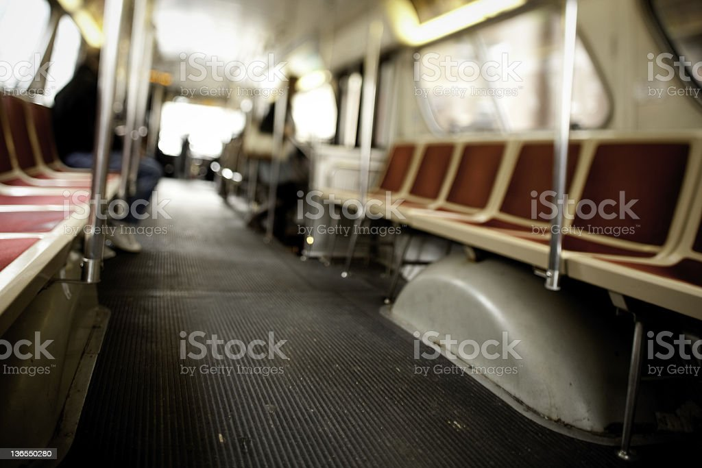 Public transportation,Bus Seats royalty-free stock photo