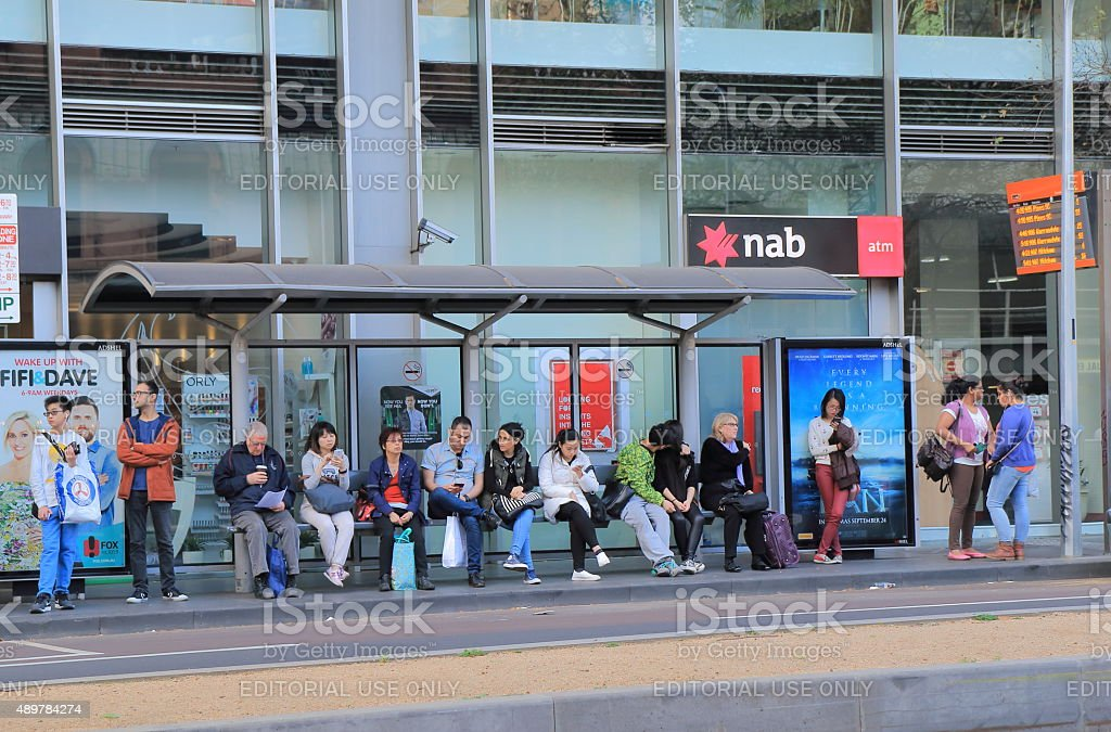 Public trasport Melbourne Australia stock photo