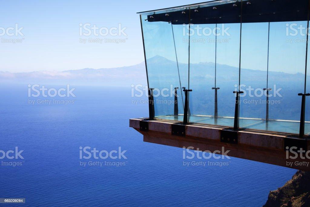 public viewing platform in La Gomera stock photo