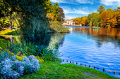 Public Warsaw's Royal Baths Park, Poland