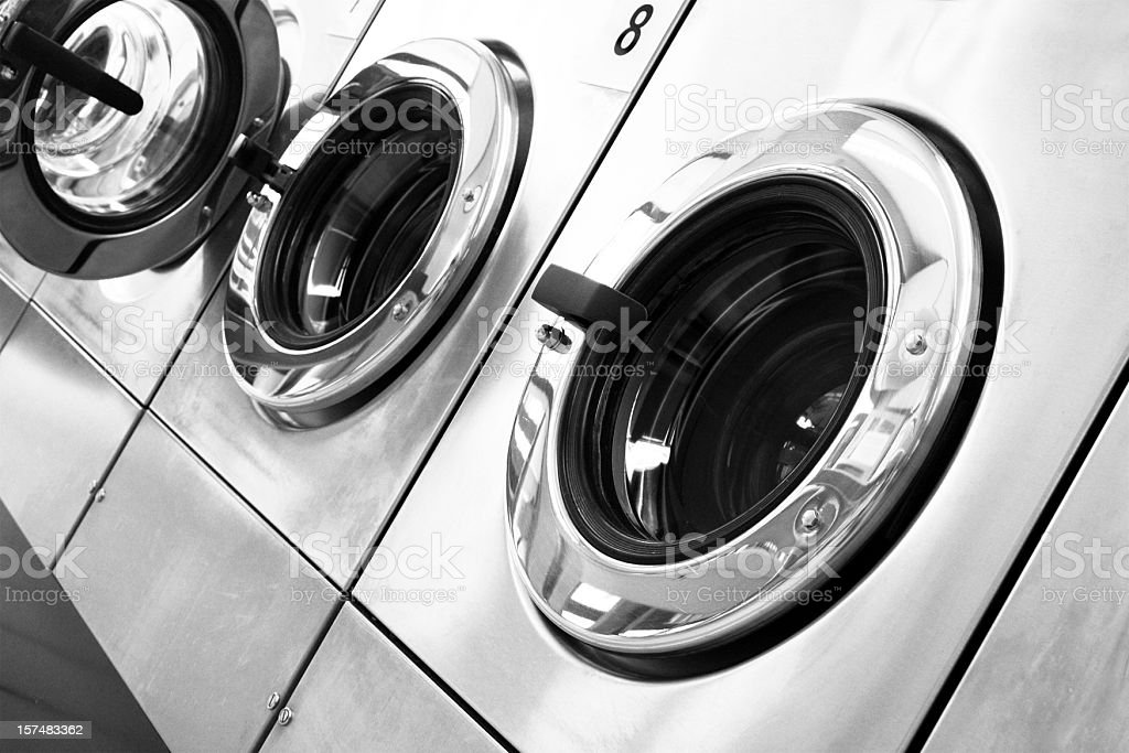 Public washing machines royalty-free stock photo