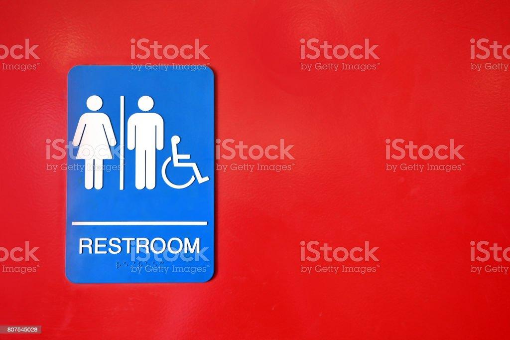 Public Washroom Sign stock photo