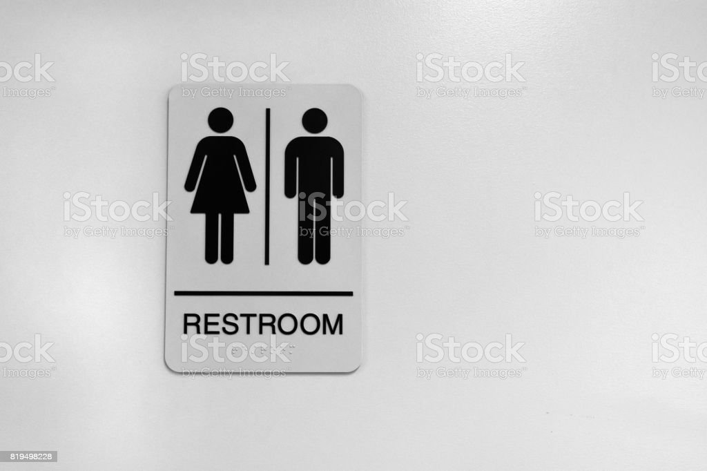 Public Washroom Sign stock photo