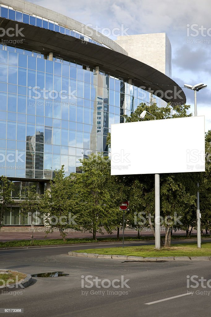Publicity board royalty-free stock photo