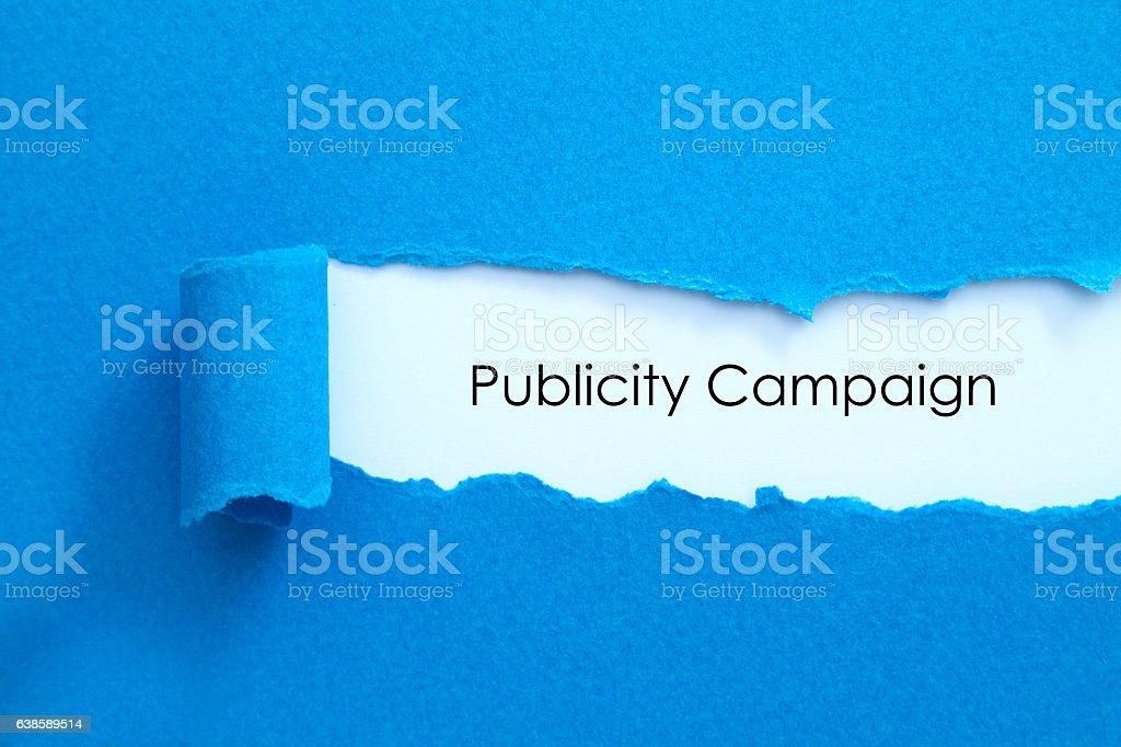 Publicity Campaign stock photo
