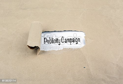 842214626istockphoto Publicity Campaign. Torn, old paper background 813320114