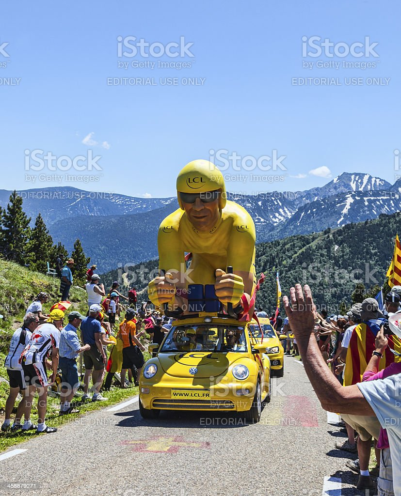 Publicity Caravan in Pyrenees royalty-free stock photo