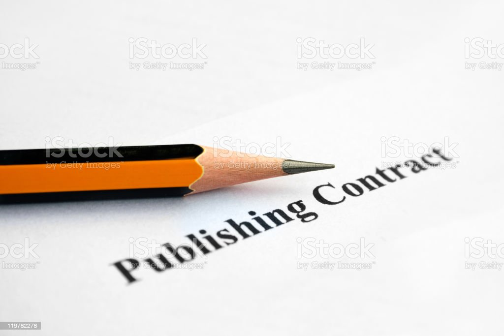 Publishing contract royalty-free stock photo