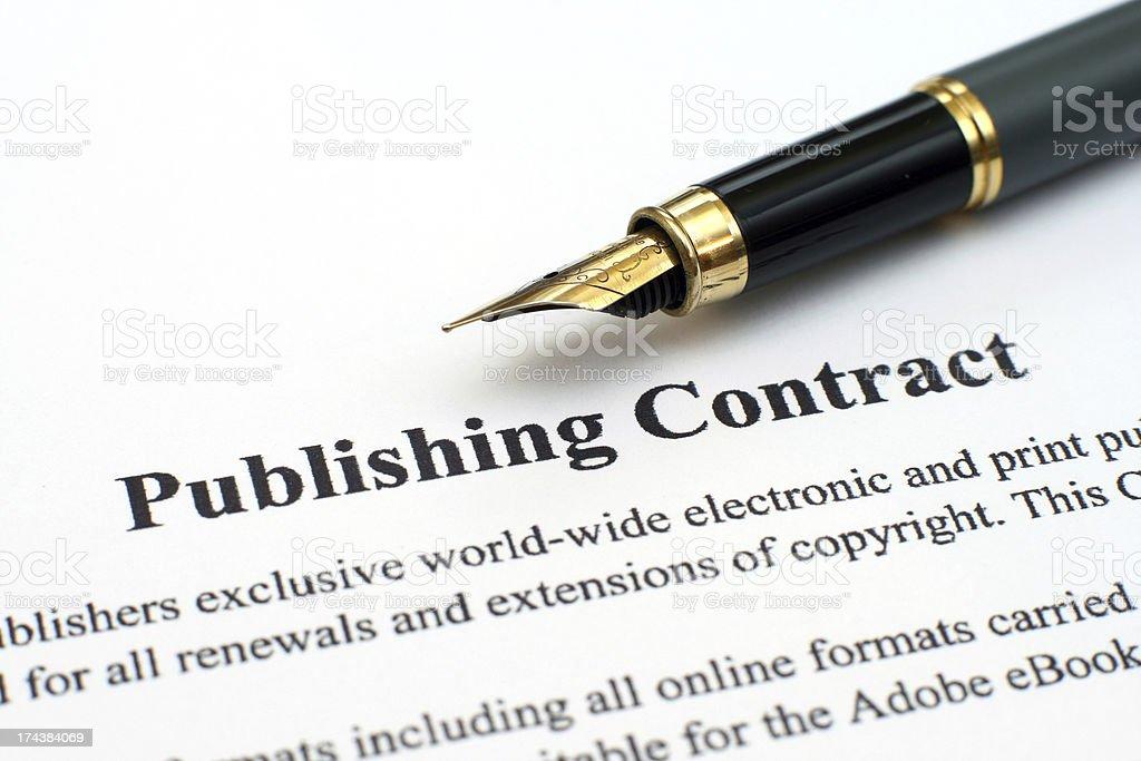 Publishing contract stock photo
