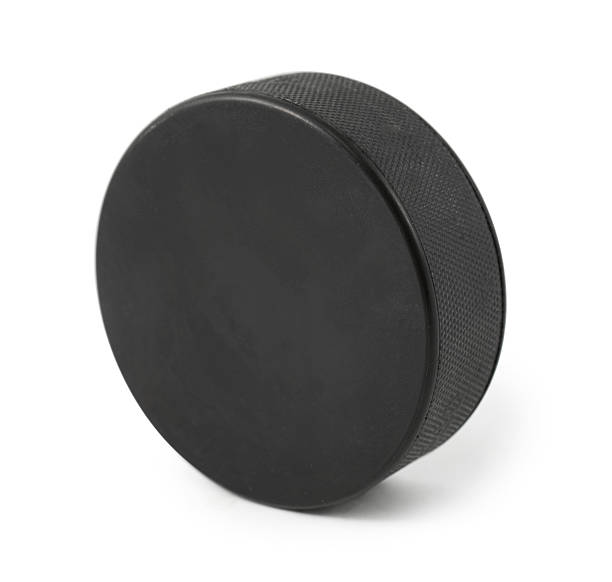 puck on white - hockey puck stock photos and pictures