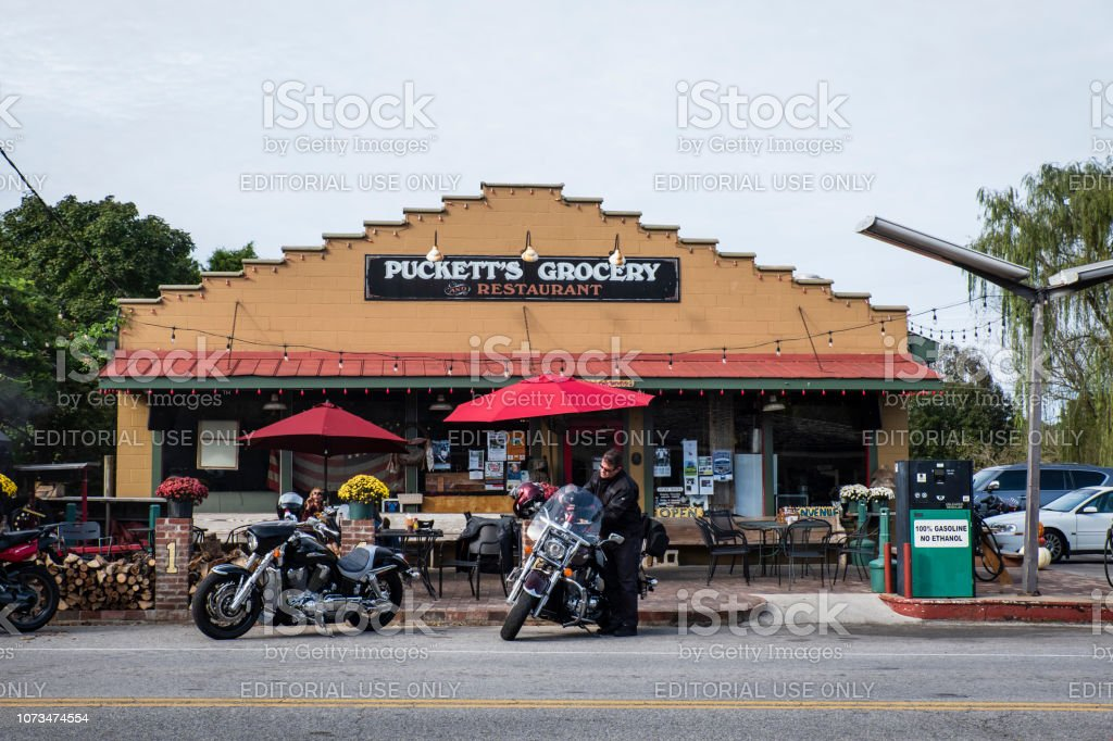 Puckett's Grocery in Leiper's Fork, TN stock photo