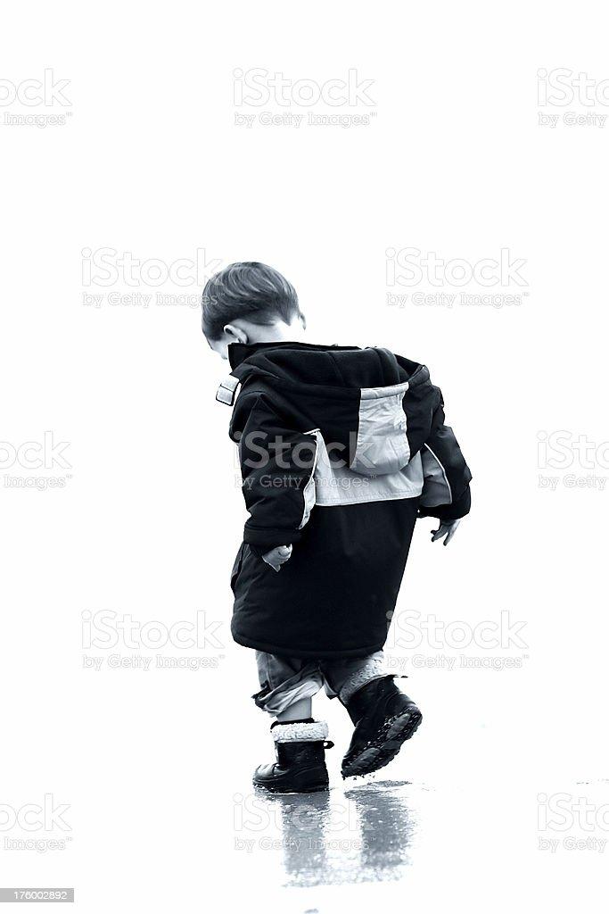 Puddle boy royalty-free stock photo