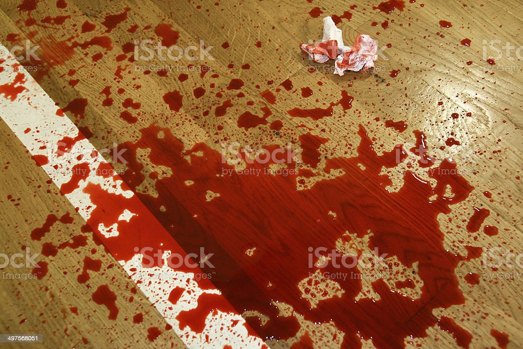 Puddle of blood stock photo