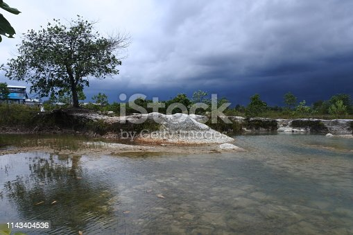 istock puddle of former sand mining 1143404536